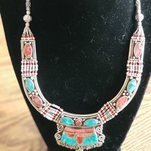 Turquoise Coral 925 Sterling Silver